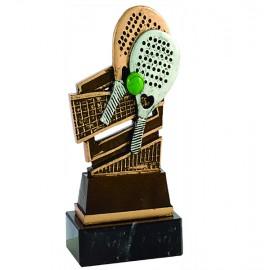 Trofeo figura pádel resina