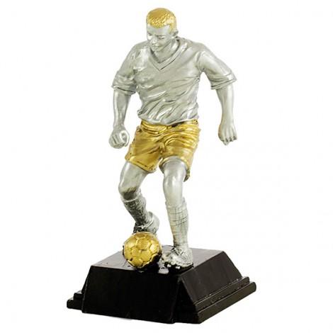 Trofeo resina jugador fútbol