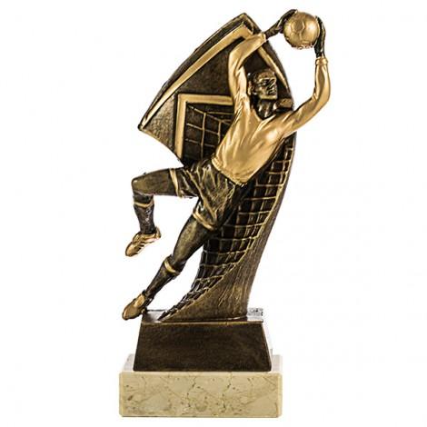 Trofeo figura portero resina