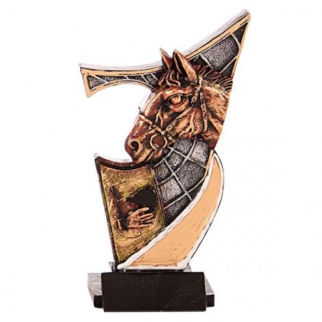 Trofeo de resina de Hípica