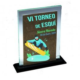 Trofeo cristal rectangular