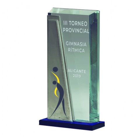 Trofeo cristal vertical
