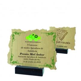Trofeo de madera impreso a todo color