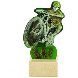 Trofeo de resina de Mountain Bike