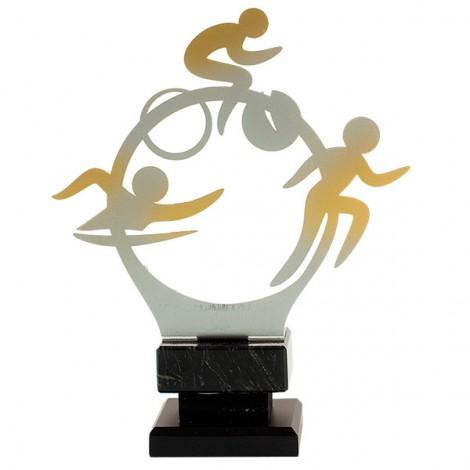 Trofeo de triatlón de forja