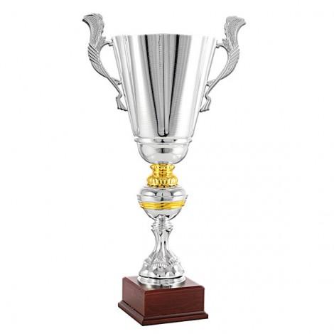 Trofeo con asas en plata y dorado