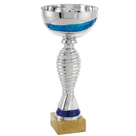 Trofeo espiral plata/azul