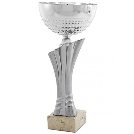 Trofeo cerámica plata
