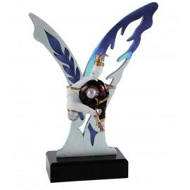 Trofeo mariposa con aplique 6600