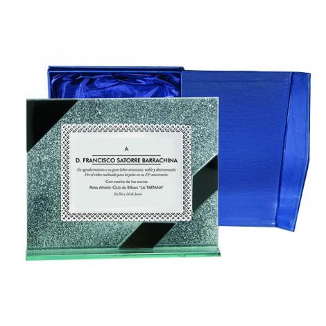 Placa Indo  cristal y aluminio