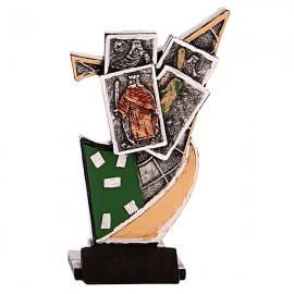Trofeo de resina de Cartas