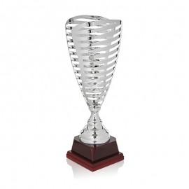 Trofeo rejilla metálico plata
