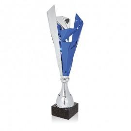 Trofeo metálico bicolor