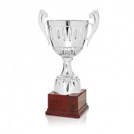 Trofeo clásico metálico plata