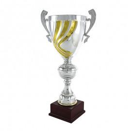 Trofeo con asas plateado y dorado