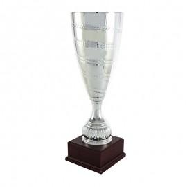 Trofeo cónico metálico plata