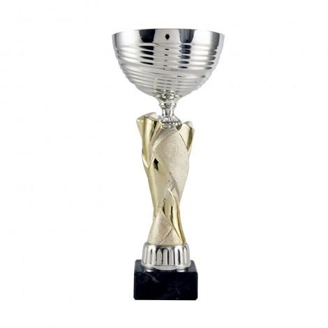 Trofeo copa cerámica dorado/plata