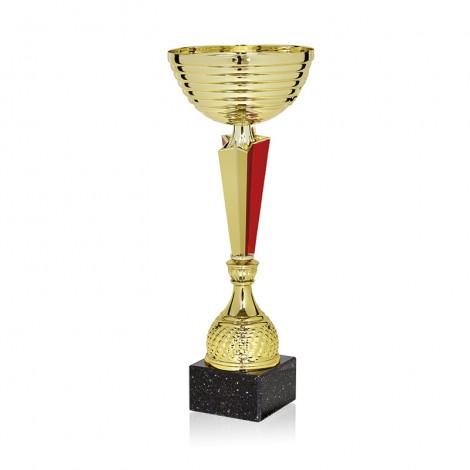Trofeo bicolor dorado/rojo