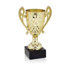 Trofeo copa dorada con asas