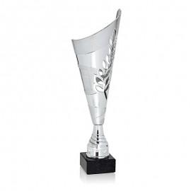 Trofeo laurel plateado