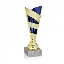 Trofeo bicolor dorado/azul