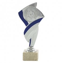 Trofeo portadiscos plata/azul