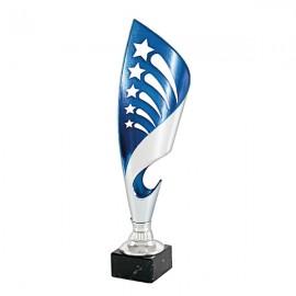 Trofeo bicolor azul/plata