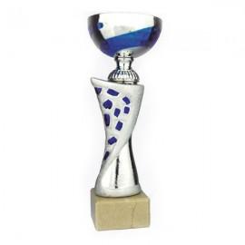 Trofeo copa bicolor plata/azul