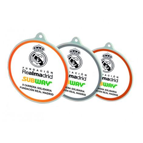 Medalla Serie 09A pintada en blanco e impresa a todo color