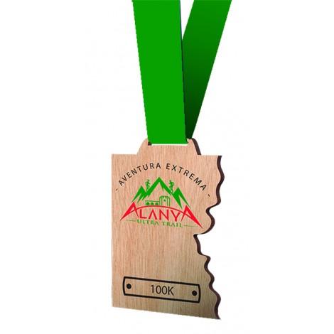 Medalla de madera Serie 13B impresa a todo color