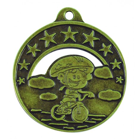 Medalla infantil de ciclismo