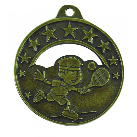 Medalla infantil de tenis
