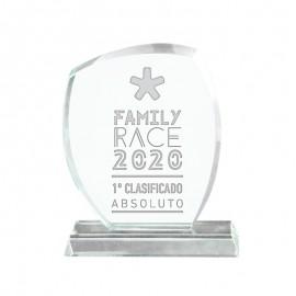 Trofeo cristal redondeado