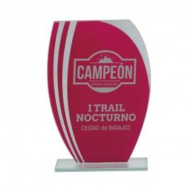Trofeo Cristal  rojo