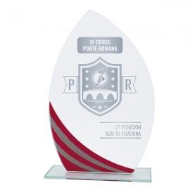 Trofeo Cristal Lágrima rojo