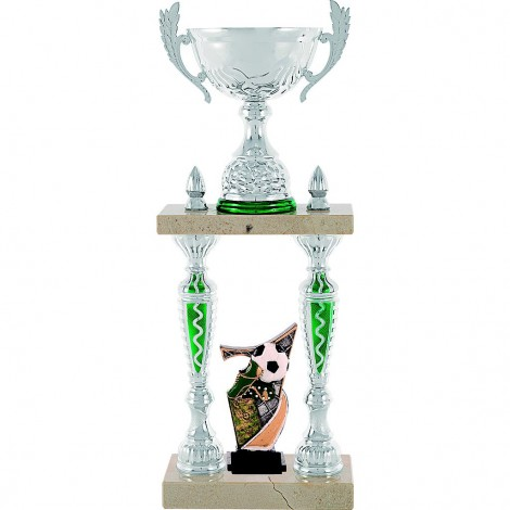 Trofeo de columna con aplique deportivo