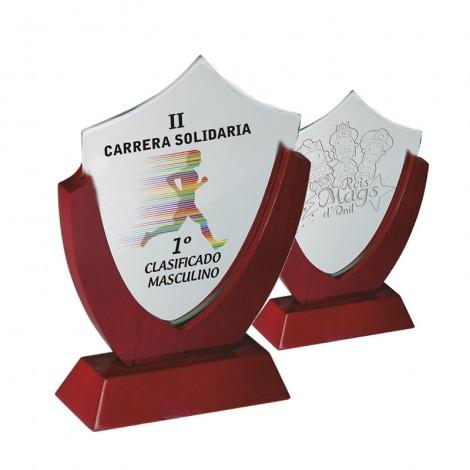 Trofeo cristal/madera