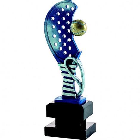 Trofeo resina raqueta pádel