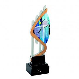 Trofeo resina con aplique acrílico de tenis impreso a color
