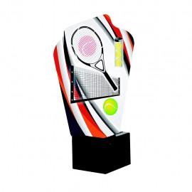 Trofeo aluminio Tenis impreso a todo color