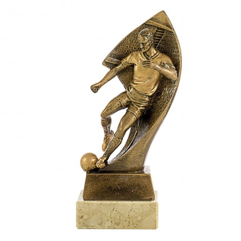 Trofeo resina fútbol masculino