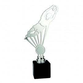 Trofeo portero metal plateado
