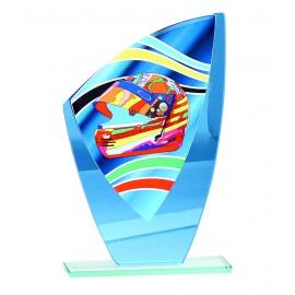 Trofeo cristal motor todo color