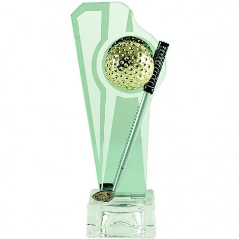 Trofeo de golf de cristal