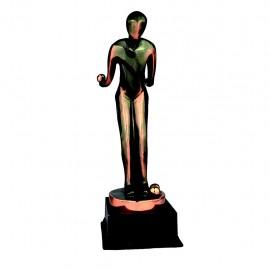 Trofeo de resina de Petanca con acabado cobre