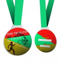 Medalla redonda serie 08A impresa a color