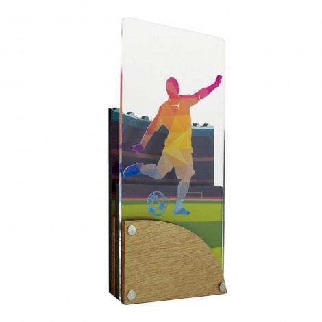 Trofeo de Fútbol de metacrilato y madera