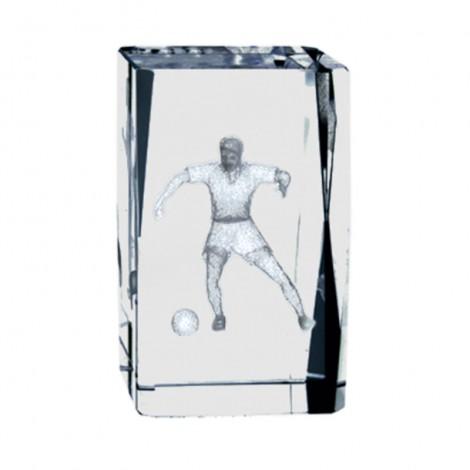 Trofeo de Fútbol de cristal con grabación 2D
