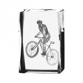 Trofeo de Mountain Bike de cristal con grabación 2D